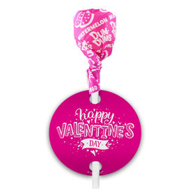 Valentine's Day Hearts and Hugs Dum Dums with Gift Tag (75 pops)