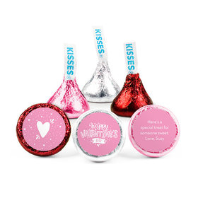 Personalized Valentine's Day Hearts and Hugs Hershey's Kisses (50 pack)