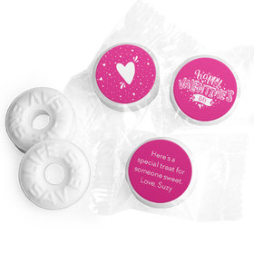Personalized Valentine's Day Hearts and Hugs Life Savers Mints