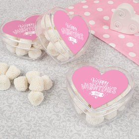 Valentine's Day Hearts and Hugs Assembled Acrylic Heart Container with Jelly Belly Gumdrops