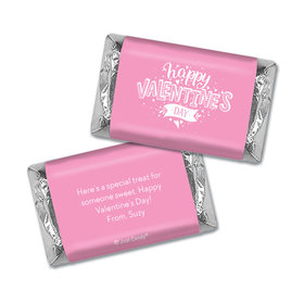 Personalized Hershey's Miniatures Wrappers Valentine's Day Hearts and Hugs