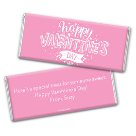 Personalized Valentine's Day Hearts and Hugs Chocolate Bar Wrappers Only