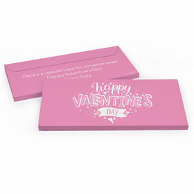 Deluxe Personalized Valentine's Day Hearts and Hugs Chocolate Bar in Gift Box