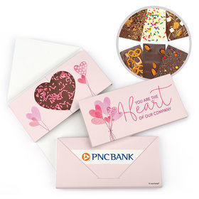 Personalized Valentine's Day Sending Hearts Add Your Logo Gourmet Infused Belgian Chocolate Bars (3.5oz)