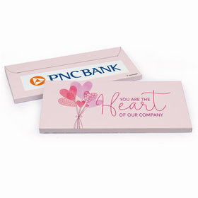 Deluxe Personalized Valentine's Day Sending Hearts Add Your Logo Chocolate Bar in Gift Box