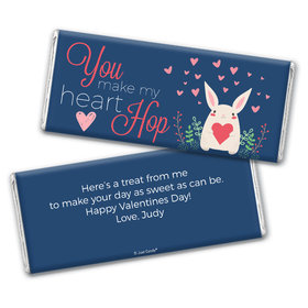 Personalized Valentine's Day Bunny Love Chocolate Bar Wrappers Only