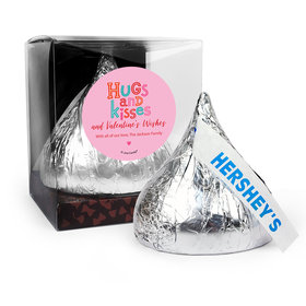 Personalized Valentine's Day Hugs and Kisses 12oz Giant Hershey's Kiss