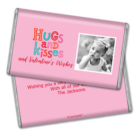 Personalized Valentine's Day Hugs and Kisses Giant 1lb Hershey's Chocolate Bar