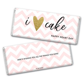 Personalized Valentine's Day Chevron Heart Hershey's Chocolate Bar & Wrapper