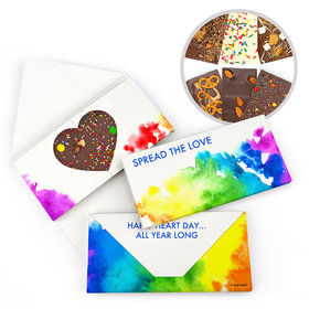 Personalized Valentine's Day Spread Love Gourmet Infused Belgian Chocolate Bars (3.5oz)