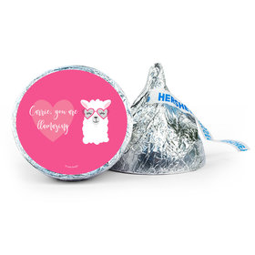 Personalized Valentine's Day Love Llama 7oz Giant Hershey's Kiss