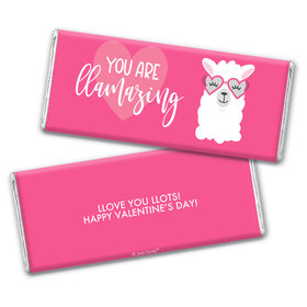 Personalized Valentine's Day Love Llama Hershey's Chocolate Bar & Wrapper