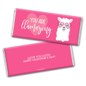 Personalized Valentine's Day Love Llama Chocolate Bar Wrappers Only