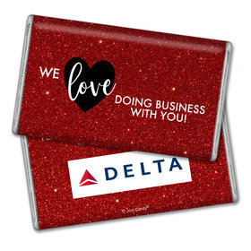 Personalized Valentine's Day Corporate Dazzle Add Your Logo Giant 1lb Hershey's Chocolate Bar