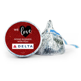 Personalized Valentine's Day Corporate Dazzle Add Your Logo 7oz Giant Hershey's Kiss