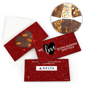 Personalized Valentine's Day Corporate Dazzle Gourmet Infused Belgian Chocolate Bars (3.5oz)