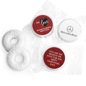 Personalized Valentine's Day Corporate Dazzle Life Savers Mints