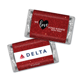 Personalized Hershey's Miniatures Valentine's Day Corporate Dazzle