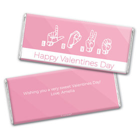 Personalized Valentine's Day L.O.V.E. Spells Love Hershey's Chocolate Bar & Wrapper