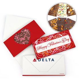 Personalized Valentine's Day Add Your Logo Swirls Gourmet Infused Belgian Chocolate Bars (3.5oz)