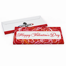 Deluxe Personalized Valentine's Day Add Your Logo Swirls Candy Bar Favor Box