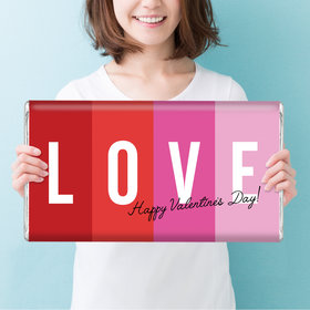 Personalized Valentine's Day Color Block Love Giant 5lb Hershey's Chocolate Bar