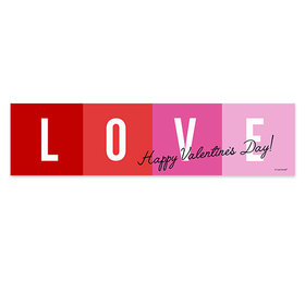 Personalized Valentine's Day Color Block Love Banner
