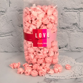 Personalized Valentine's Day Color Block Candy Coated Popcorn 8 oz Bags