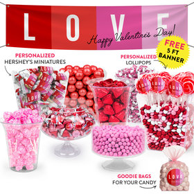 Personalized Valentine's Day Color Block Love Deluxe Candy Buffet