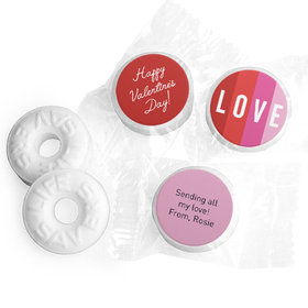 Personalized Valentine's Day Color Block Love Life Savers Mints