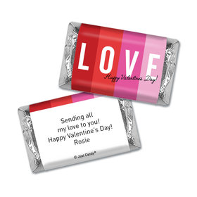 Personalized Hershey's Miniatures Valentine's Day Color Block Love