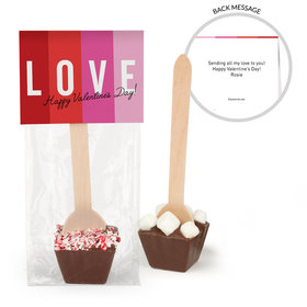 Personalized Valentine's Day Color Block Love Hot Chocolate Spoon