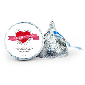 Personalized Valentine's Day I Tolerate You 7oz Giant Hershey's Kiss