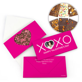 Personalized Valentine's Day XOXO Gourmet Infused Belgian Chocolate Bars (3.5oz)