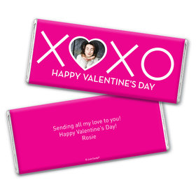 Personalized Valentine's Day XOXO Chocolate Bar Wrappers Only