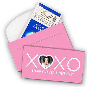 Deluxe Personalized Valentine's Day XOXO Lindt Chocolate Bar in Gift Box (3.5oz)