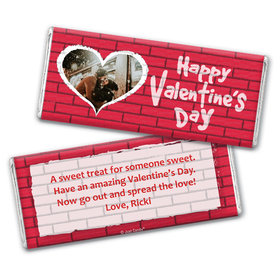 Personalized Valentine's Day Grafitti Valentine Hershey's Chocolate Bar & Wrapper