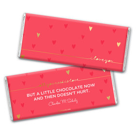 Personalized Valentine's Day Thoughtful I Love You Hershey's Chocolate Bar & Wrapper