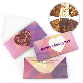 Personalized Valentine's Day Kaleidoscope Heart Gourmet Infused Belgian Chocolate Bars (3.5oz)