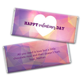 Personalized Valentine's Day Kaleidoscope Heart Hershey's Chocolate Bar & Wrapper