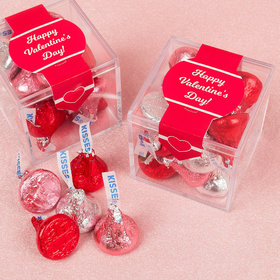 Valentine's Day Delightful Love Sweet Candy Cube Favors with Hershey's Kisses