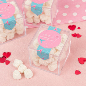 Valentine's Day Love is in the Air Sweet Candy Cube Favors with Jelly Belly Champagne Gumdrops