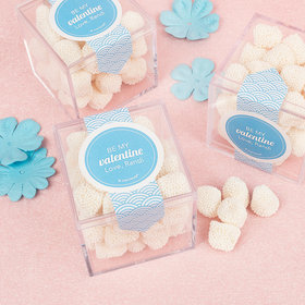 Personalized Valentine's Day Love Wave Sweet Candy Cube Favors with Jelly Belly Champagne Gumdrops