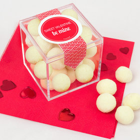 Personalized Valentine's Day Sweet Candy Cube Favors with Premium Sugar Cookie Bites