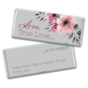 Personalized Valentine's Day Love, True Love Hershey's Chocolate Bar & Wrapper