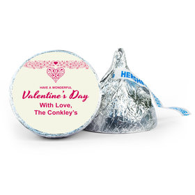 Personalized Valentine's Day Patterned Heart 7oz Giant Hershey's Kiss