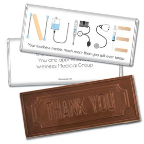 Nurse Appreciation Personalized Embossed Chocolate Bar First Aid