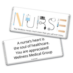 Nurse Appreciation Personalized Chocolate Bar Wrappers First Aid