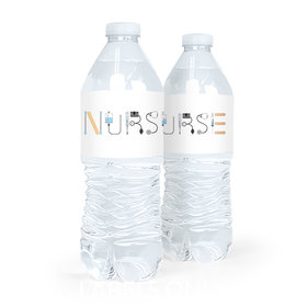 Nurse Appreciation First Aid Water Bottle Sticker Labels (5 Labels)