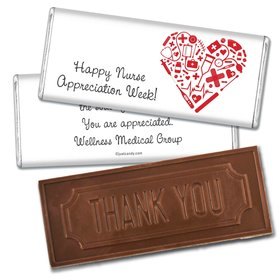 Nurse Appreciation Personalized Embossed Chocolate Bar First Aid Heart